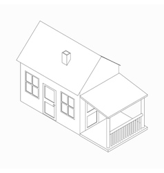 Cottage icon isometric 3d style vector