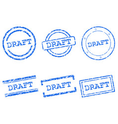 draft stamps vector image