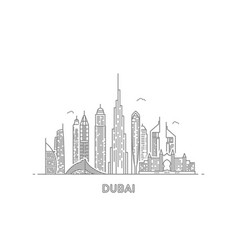 dubai city skyline vector image
