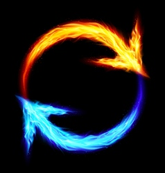 Fire circular arrows vector