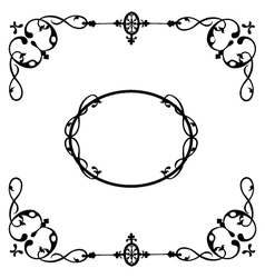 frame calligraphy vector image