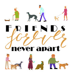 Friends forever never apart vector