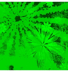 Green Floral Grunge vector image