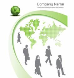 green global vector image