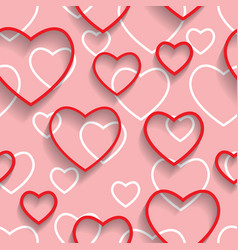 Happy valentines day seamless love and happiness vector