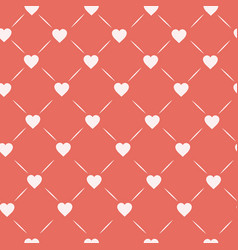 hearts connected with lines on pastel pink vector image vector image