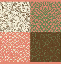 hipster style seamless texture set vector image vector image