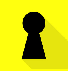 Keyhole sign black icon with flat vector