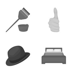 Leisure trade business and other monochrome icon vector