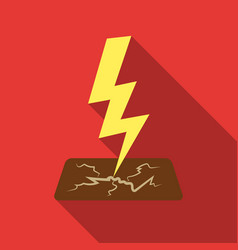 Lightning bolt icon in flate style isolated on vector
