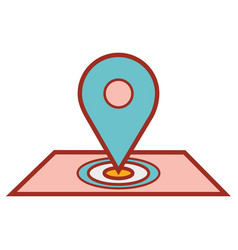 map symbol to delivery services vector image