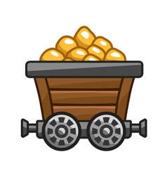 Mine cart vector