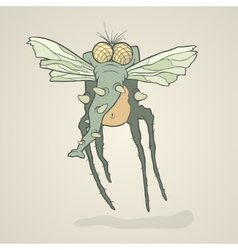 monster fly with long legs wings and vector image