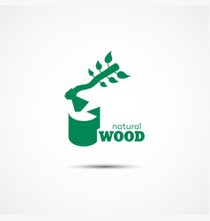 natural wood logo vector image vector image