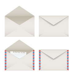 Opened and closed envelopes set vector image vector image