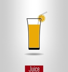 Orange juice icon vector image