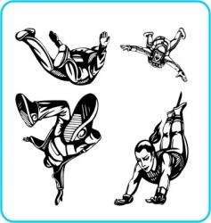 parachute jump vector image