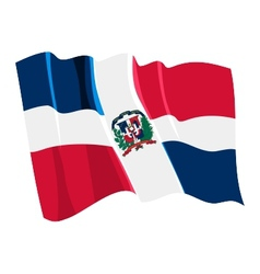 Political waving flag of dominican republic vector