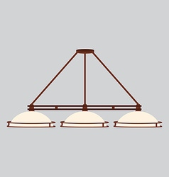 Pool lamp with three shades vector