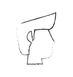 Portrait head groom sketch vector