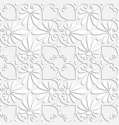 seamless white floral ornament vector image vector image