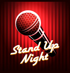 Stand up comedians night show poster template vector