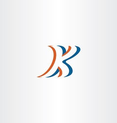 stylized k logo icon letter k logotype vector image