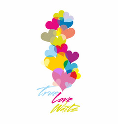 True love waits print vector