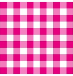 vintage pink plaid background vector image vector image