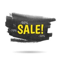 Watercolor sale banner vector