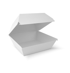 White food box packaging for hamburger lunch vector image