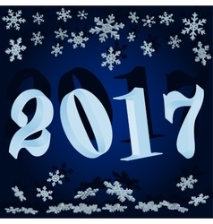 Winter background New year 2017 vector image vector image