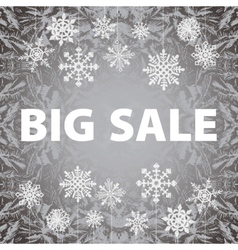 Winter sale background banner and snow Christmas vector image vector image