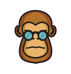 Monkey icon vector image