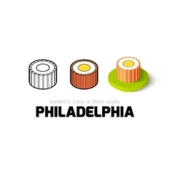 Philadelphia icon in different style vector