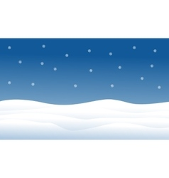 Hill full of snow christmas landscape vector