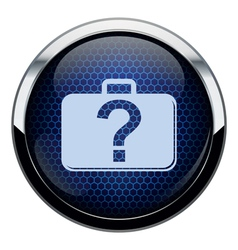 Blue honeycomb bag icon vector image