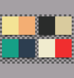 colored squares with shadow vector image