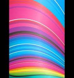 rainbow ridge vector image