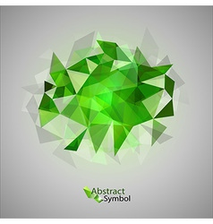 Triangles on gray green vector
