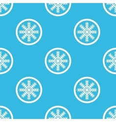 Winter sign blue pattern vector