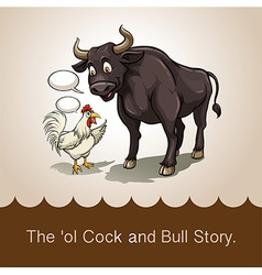 The ol cock and bull story vector