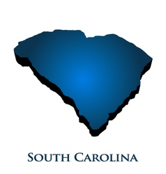 3d graphic map of south carolina state vector
