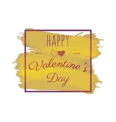 Happy valentines day greeting lettering vector