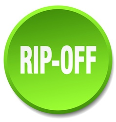 Rip-off green round flat isolated push button vector