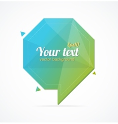 Abstract paper speech bubble and text vector