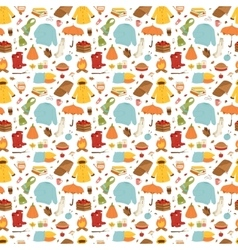 Autumn items seamless pattern vector