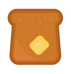 Baked bread products isolated food meal vector