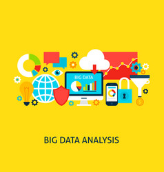 big data analysis concept vector image vector image