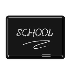 blackboard with chalk and pointer board for vector image